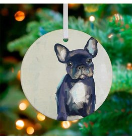 Greenbox Art Frenchie Pup Ornament