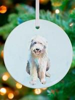 Greenbox Art English Sheep Dog Ornament