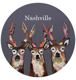 "Greenbox Art Designer Deer ""Nashville"" Ornament"