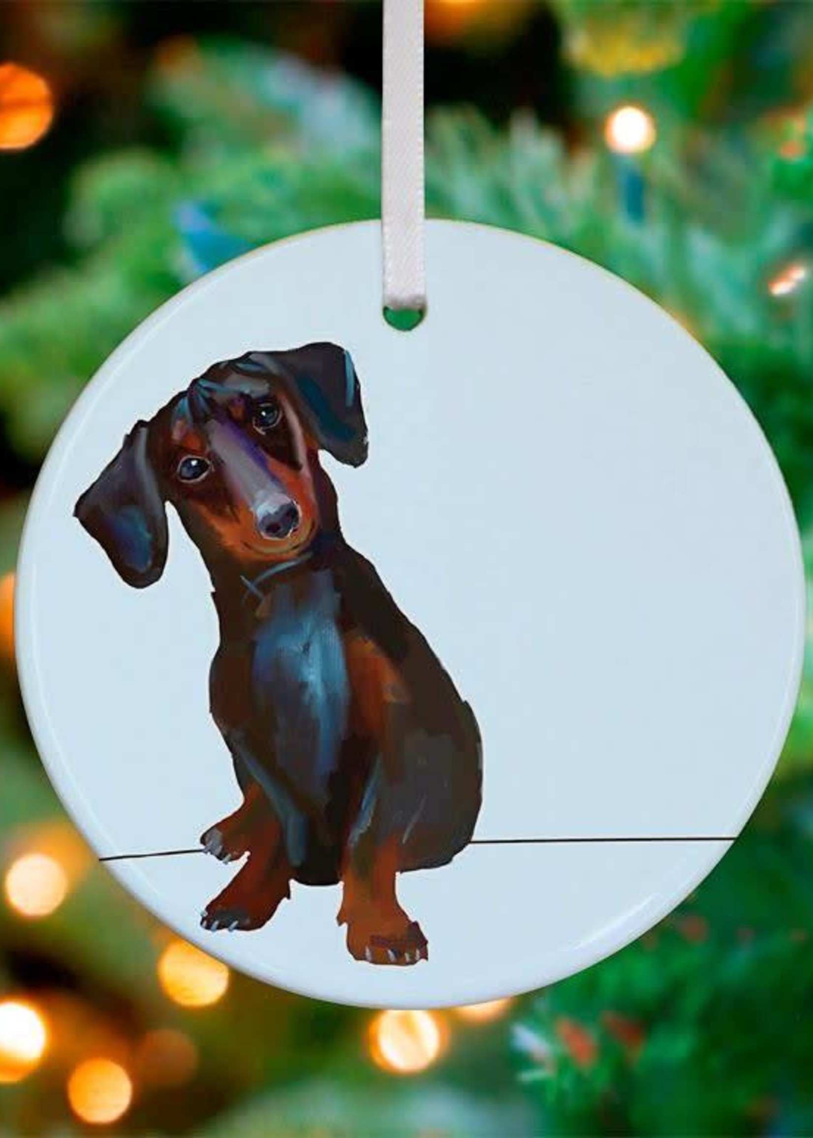 Greenbox Art Dachshund Ornament