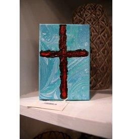 Scott Ellis 5x7 Cross Painting Blood of Jesus - Act 2:38