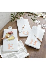 Mud Pie Initial Marble & Copper Board & Spreader