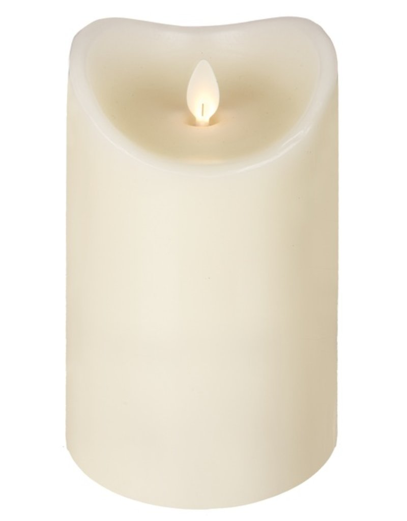LuxuryLite 3.7x6 Wax LED Pillar Candle Ivory