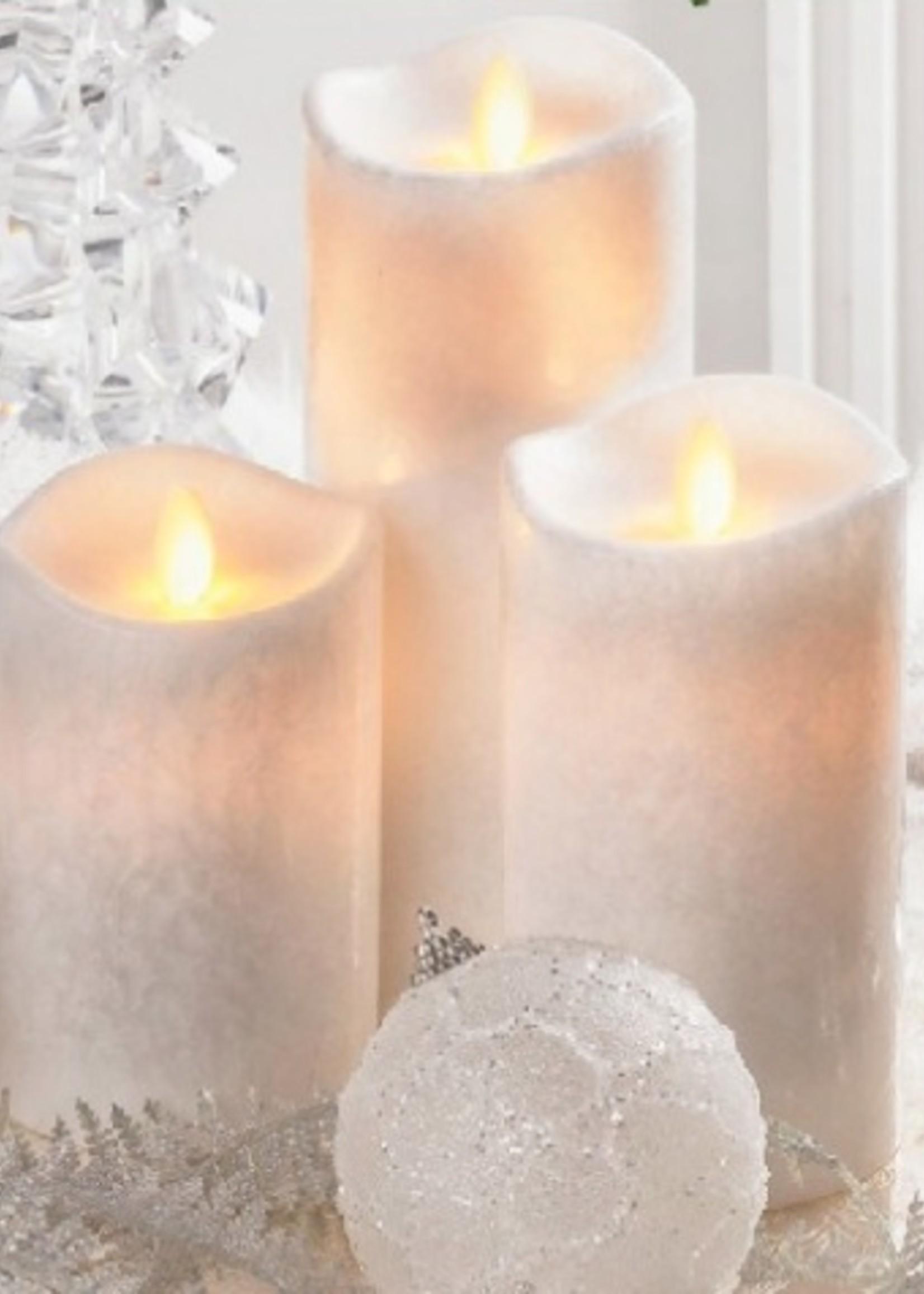LuxuryLite 3x5 Wax LED Pillar Candle White
