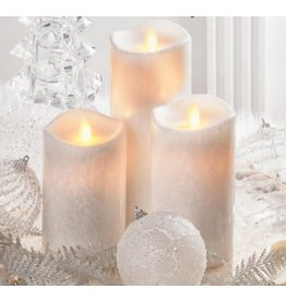 LuxuryLite 3x6 wax led pillar candle white