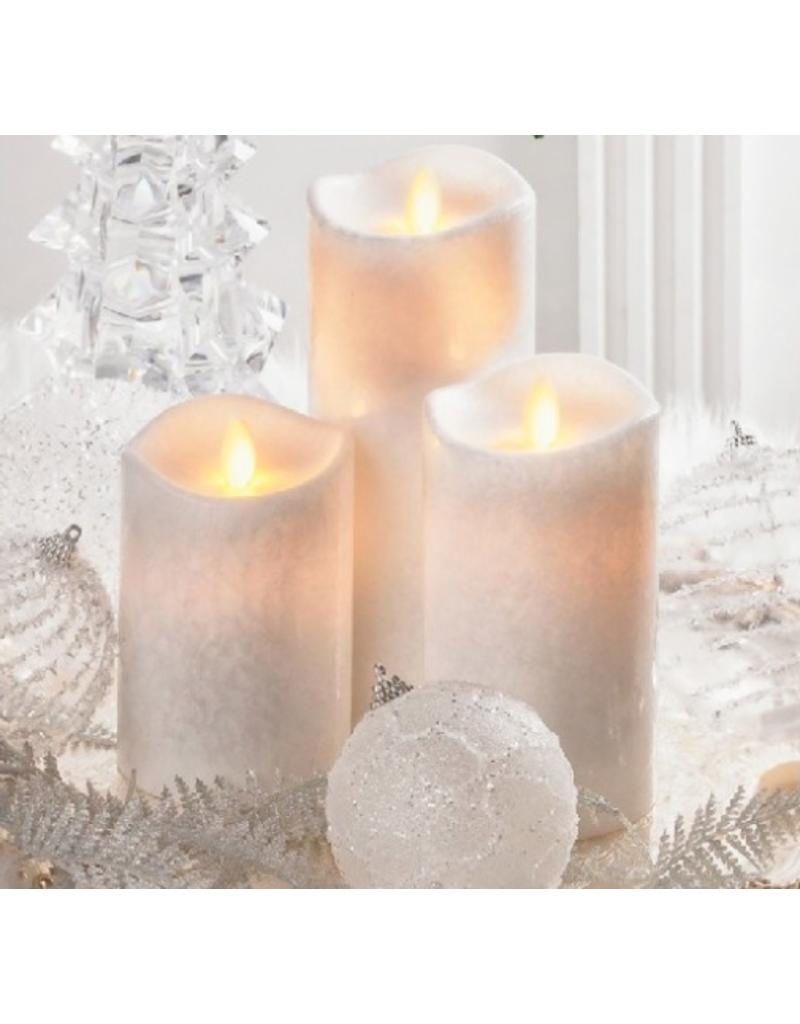 LuxuryLite 3x6 wax led pillar candle white