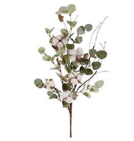 "33"" Eucalyptus & Cotton Stem"