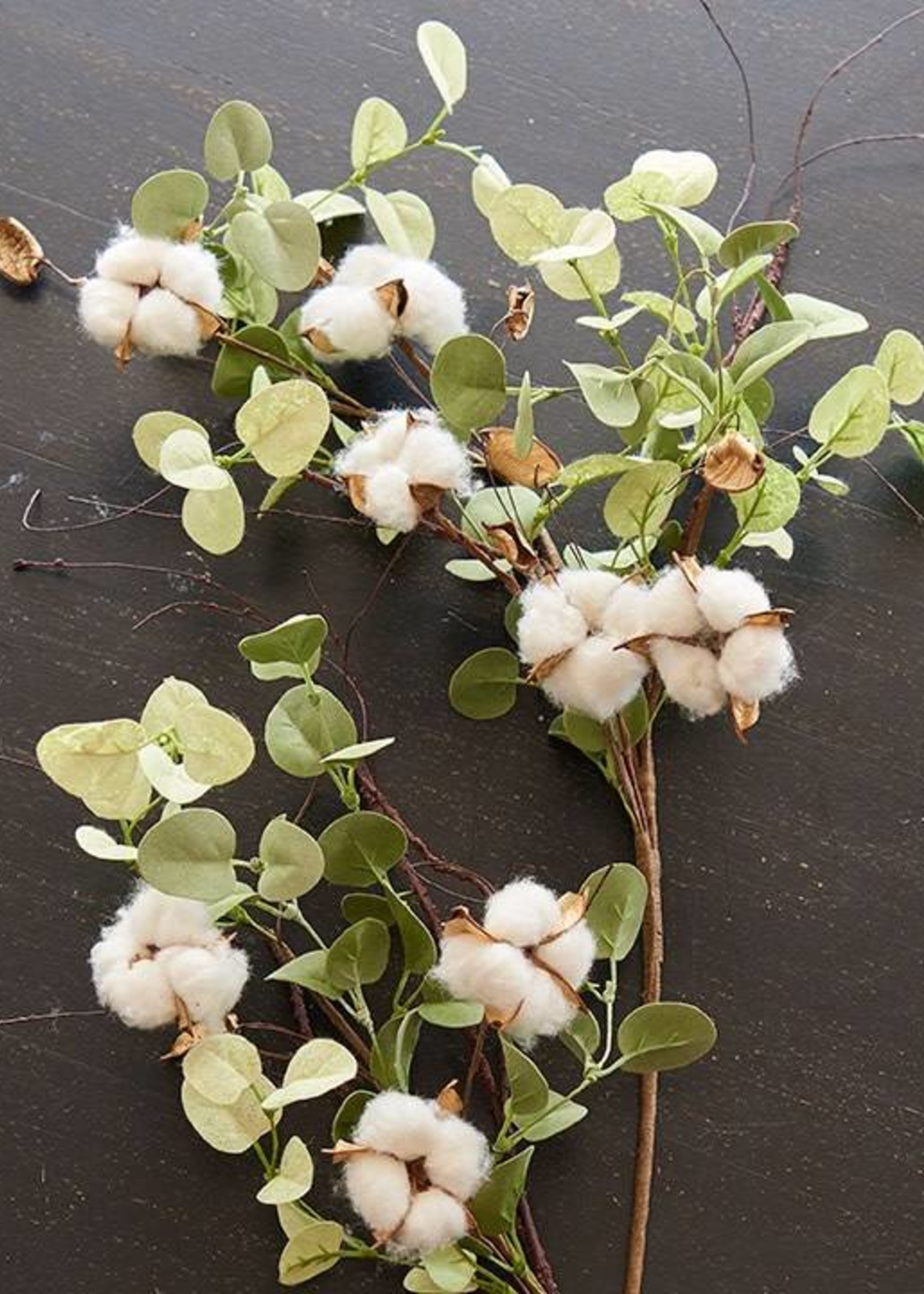 "Oak & Willow 33"" Eucalyptus & Cotton Stem"
