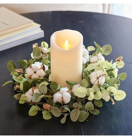 "15"" Cotton & Eucalyptus Candle Ring"