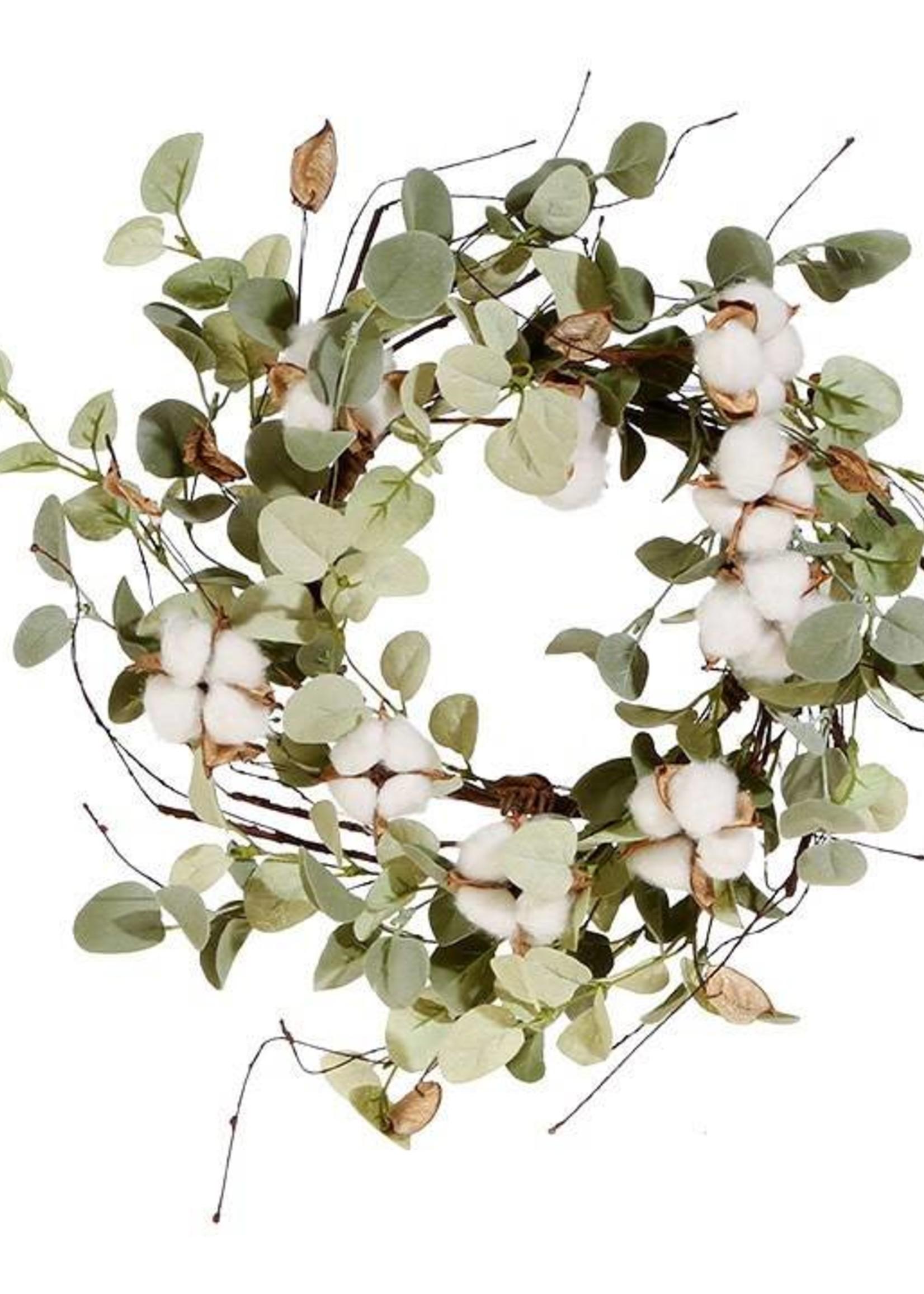 "15"" Cotton & Eucalyptus Candle Ring"