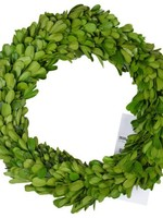 """A&B Home 10"""" Preserved Boxwood Candle Ring"""