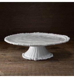 Beatriz Ball VIDA ALEGRIA Pedestal Cake Plate / Chip & Dip- White