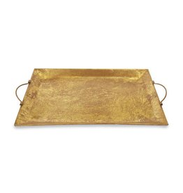 Mud Pie Large Gold Foil Tin Tray