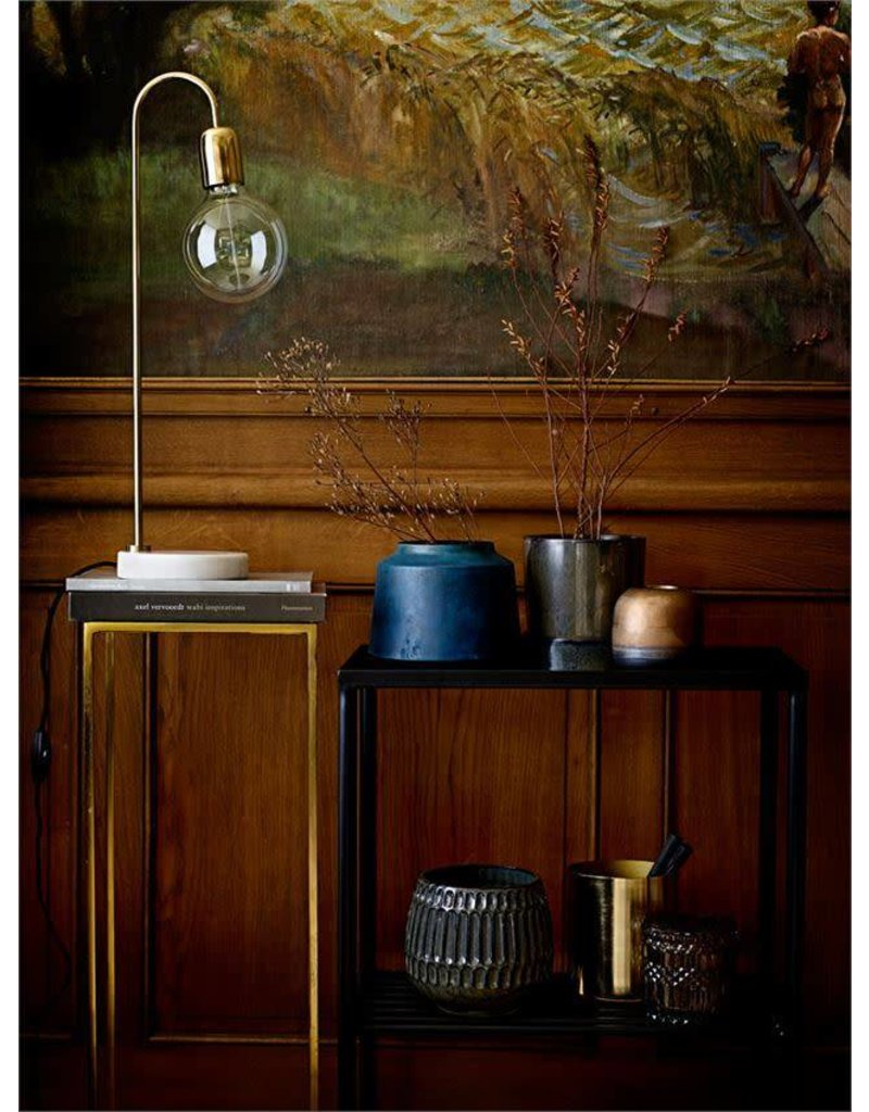 "Bloomingville Blue Stoneware Flower Pot 5.75"""