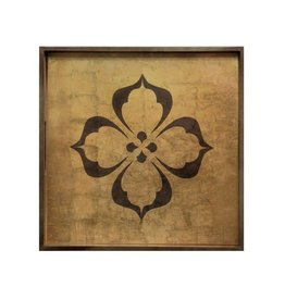 """RockFlowerPaper Rambagh Gold 15"""" Square Tray"""