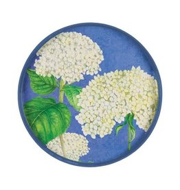 "Blue Hydrangea 18"" Round Tray"
