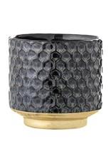 "Bloomingville Blue w/ Gold Base Stoneware Flower Pot 4"""