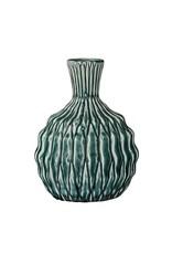 Bloomingville Teal Stoneware Vase - Skinny Neck