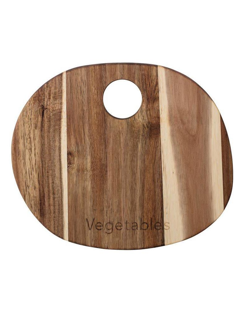 "Bloomingville Acacia Wood ""Vegetable"" Cutting Board"