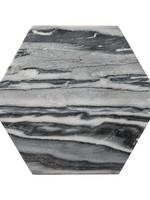 Bloomingville Grey Marble Hexagon Tray/Cutting Board