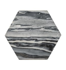 Bloomingville Grey Marble Hexagon Tray/Cutting Board