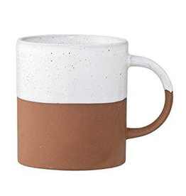 Bloomingville Evelyse Terra Cotta Mug | White & Clay