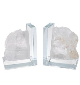 A&B Home Quartz Stone Iceberg Bookends Set