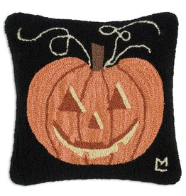 Chandler 4 Corners Jackolantern Hooked Wool Pillow
