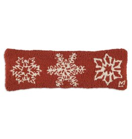 Chandler 4 Corners Icy Flakes Lumbar Hooked Wool Pillow