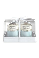 Mud Pie Blue Silver Tooth and Curl Set