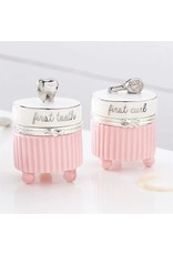 Mud Pie Pink Silver Tooth and Curl Set
