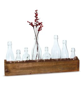 Mud Pie Wood Vase Caddy