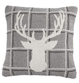 Stag Hooked Pillow