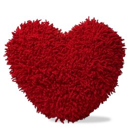 Tag Ltd SHAGGY CHENILLE HEART PILLOW