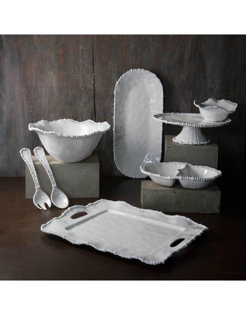 Beatriz Ball VIDA ALEGRIA Rect Tray w/ Handles - White