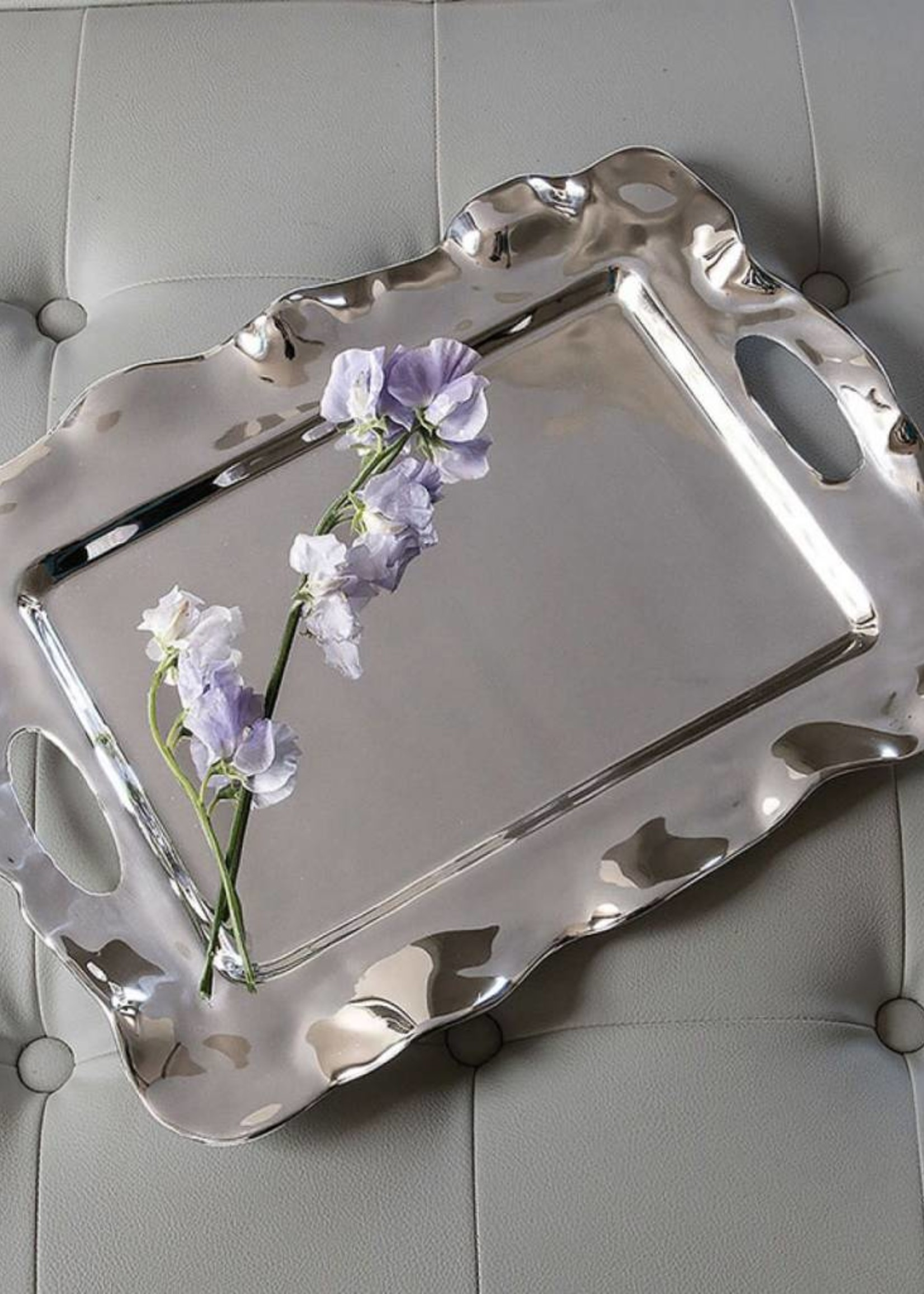Beatriz Ball VENTO rebecca rect tray w/handles (lg)