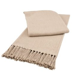 Split P Taupe Throw