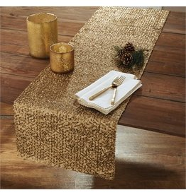 Split P Crochet Edge Napkin Gold