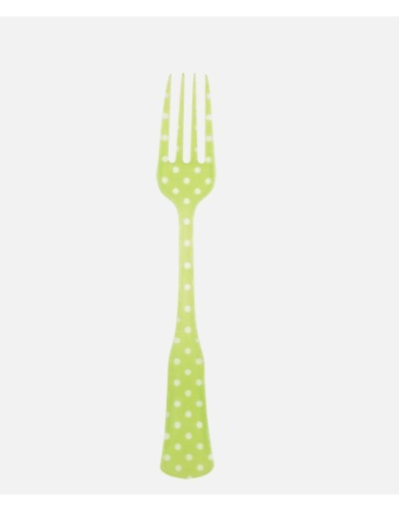 Sabre Flatware Charme Cake Fork, Green