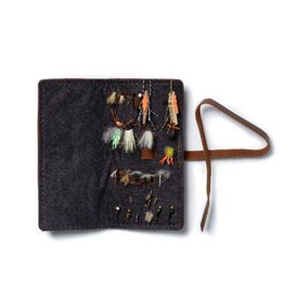 Rustico Leather Book of Flies Saddle