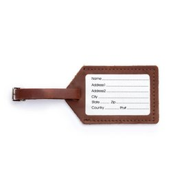 Rustico Leather Luggage Tag Saddle