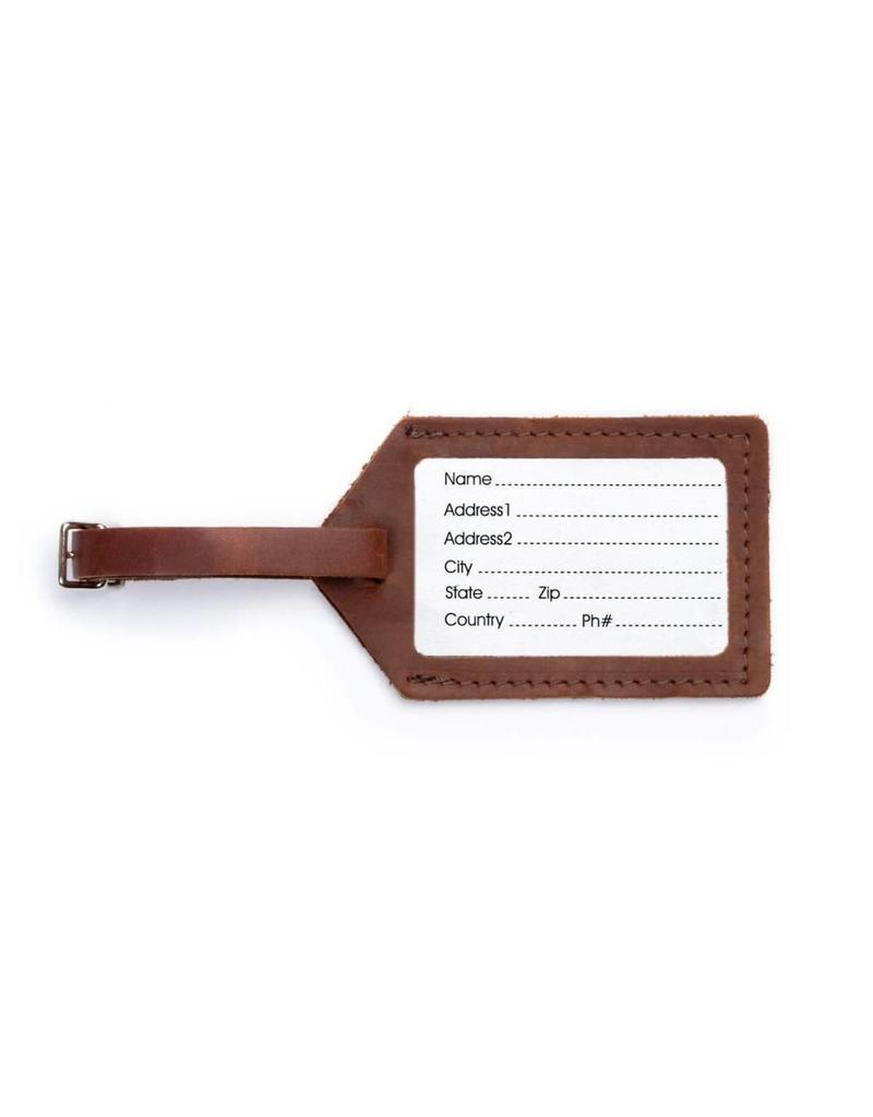 Rustico Leather Luggage Tag Saddle