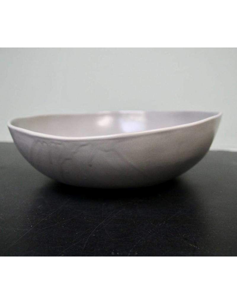 "Alex Marshall Pottery 14"" Round Bowl Grey"