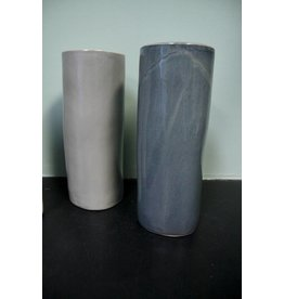 Alex Marshall Pottery Small Cylinder Vase Blue Grey