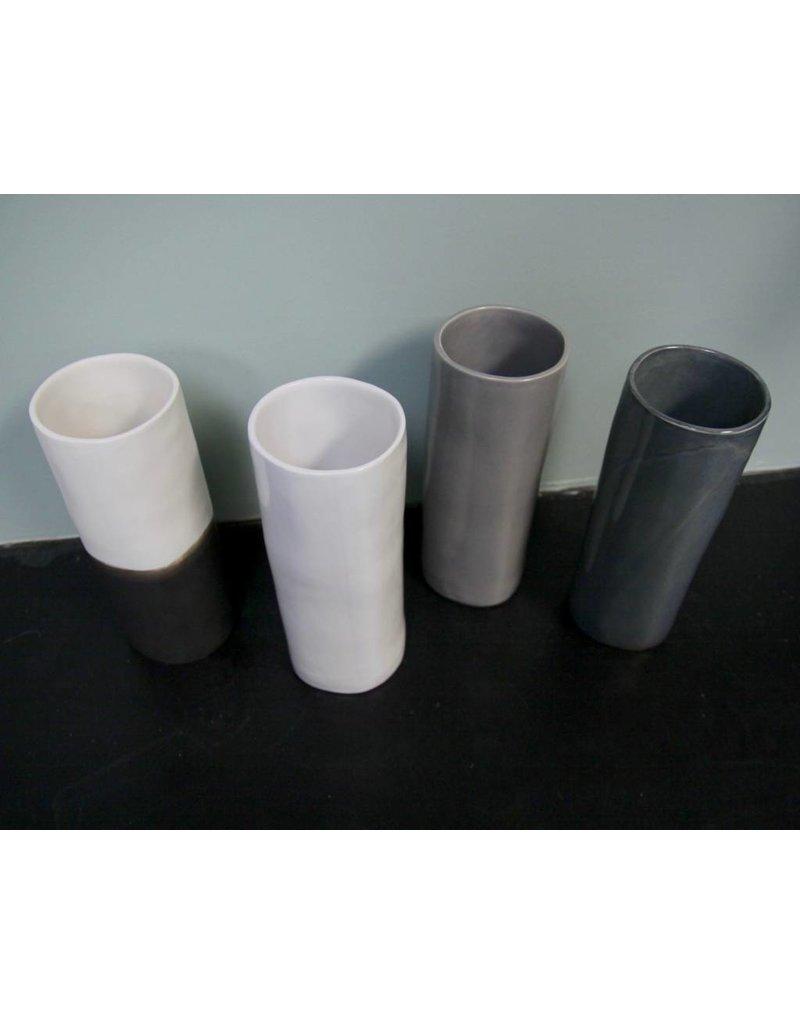 Alex Marshall Pottery Small Cylinder Vase Blue Grey