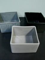 Alex Marshall Pottery Mini Square Vase Blue Grey