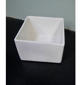 Alex Marshall Pottery Mini Square Vase Gloss White