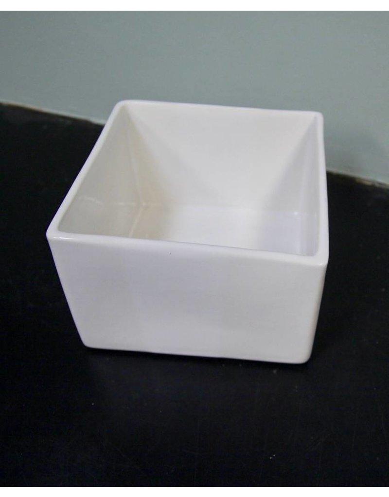 Alex Marshall Pottery Mini Square Vase Gloss White