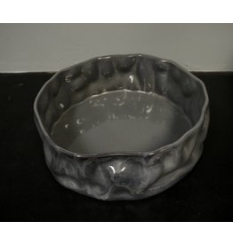"Alex Marshall Pottery 14"" Ripple Bowl Blue Grey"