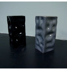 Alex Marshall Pottery Mini Square Ripple Vase Blue Grey